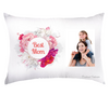 Personalized Super Soft Best Mom Floral Pillow Case With Photo
