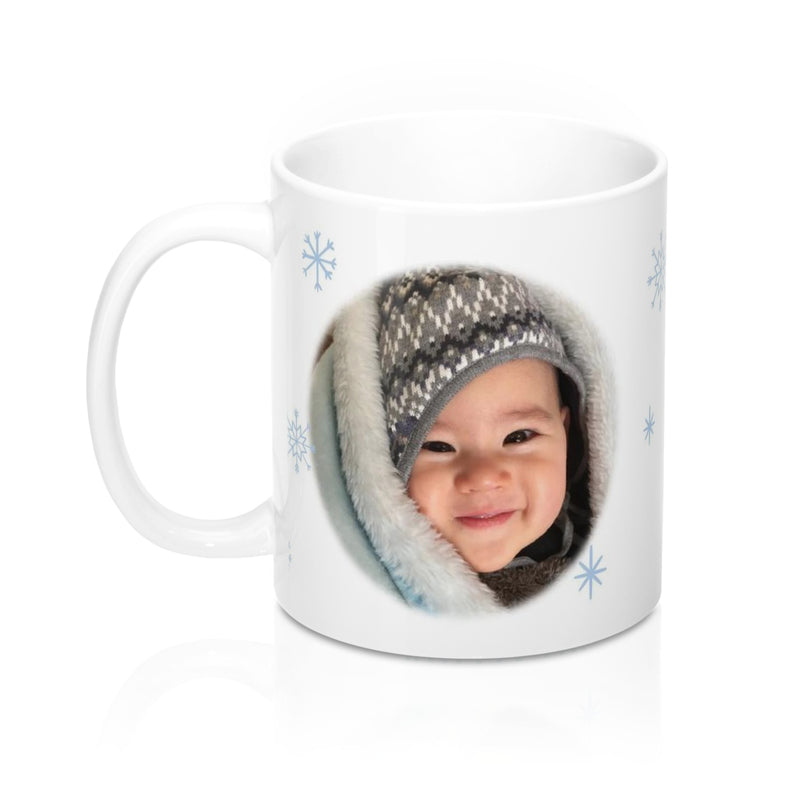 Free Shipping Personalized Full Print Christmas Mug With Photo and Name