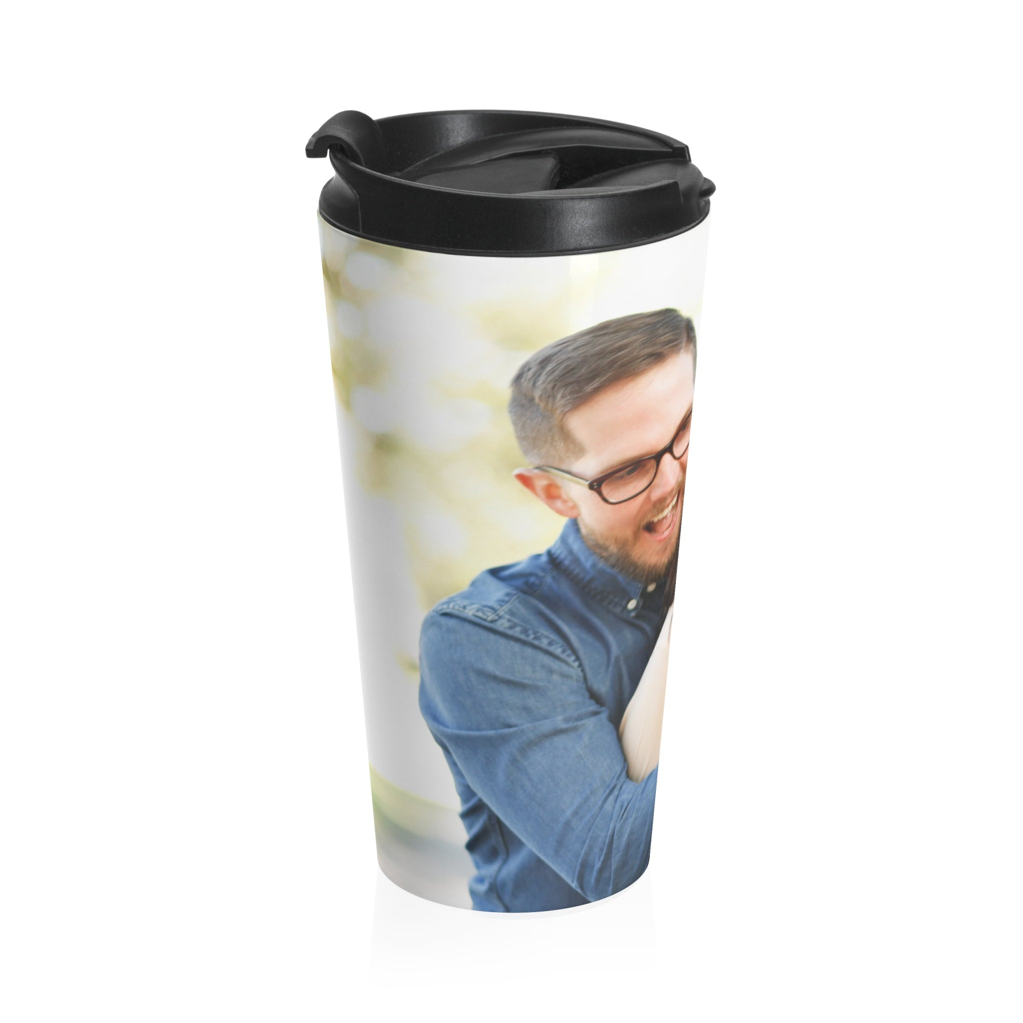 Personalized stainless steel travel mug distinct interior - Travel mug stainless steel interior ...