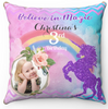 Believe In Magic Unicorn Personalized Cushion Cover