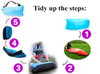 Instruction on how to tidy up lazy bed