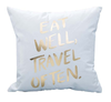 Bronzing Gold Printed Cushion Cover