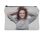 Custom Print Cosmetic Carry All Pouch With 2 Sides Print