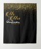 Customized Glitter Mr & Mrs Wedding Anniversary Backdrop Tapestry