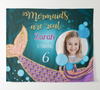 Customized Glitter Mermaid Backdrop With Photo, Dessert Table Decor,Girls Birthday Backdrop, Baptism Backdrop