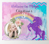 Custom Glitter Unicorn Backdrop With Photo, Dessert Table Decor,Girls Birthday Backdrop, Baptism Backdrop