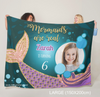 Personalized Mermaid Flannel Fleece With Photo