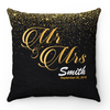 Personalized Mr & Mrs Gold And Black Pillow Case