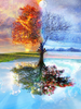 Distinct Interior DIY 5D Full Four Seasons Tree Diamond Painting