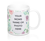 Distinct Interior Floral Green Fonts To The Best Mom Ever Mug With Photo Or Name