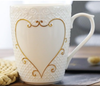 Personalized Ceramic Mug Set With Gold Details