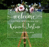 Distinct Interior Personalized Wedding Welcome Inddor Outdoor Sign Decals Sticker