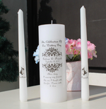 Distinct Interior 2 Sets Personalized Sticker For Wedding Unity Candle