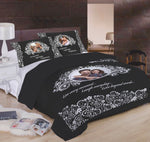 Distinct Interior White Jacquard Floral Pattern With Your Photo And Custom Text