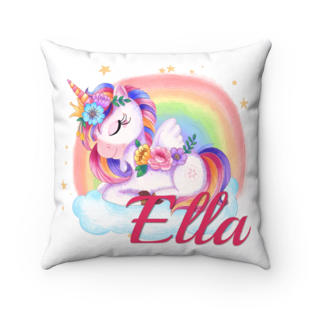 Custom Unicorn Pillow Case With Name