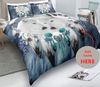 dreamcatcher white wolves bedding set with name