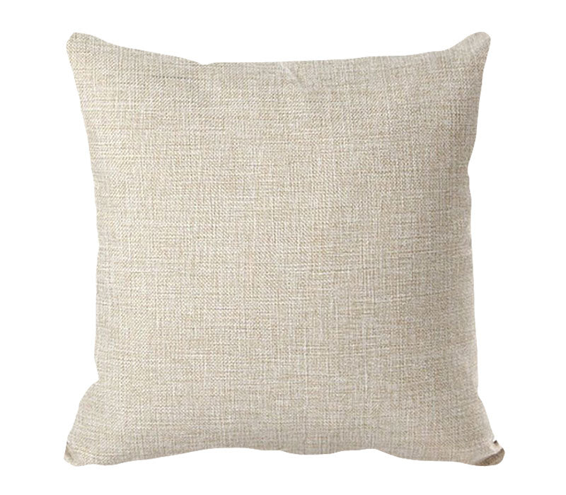 PERSONALIZED PILLOW CASE LINEN-Square- 45x45cm-Two-Sides