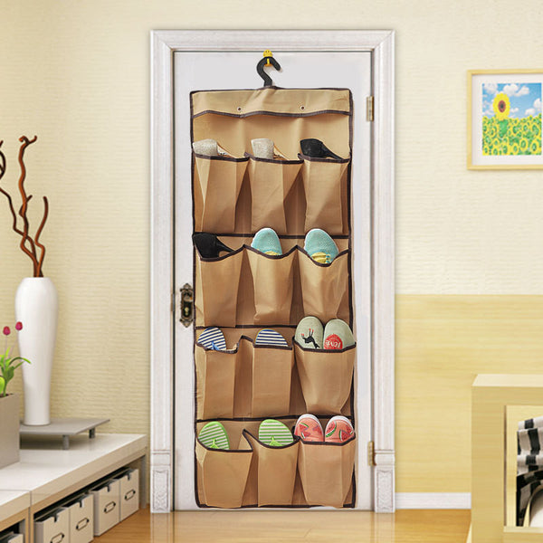 new behind door wall hanging clothes wardrobe multilayer shoes bag Clear Baseroom Living Room Storage Bag Rack Hanger Organizer