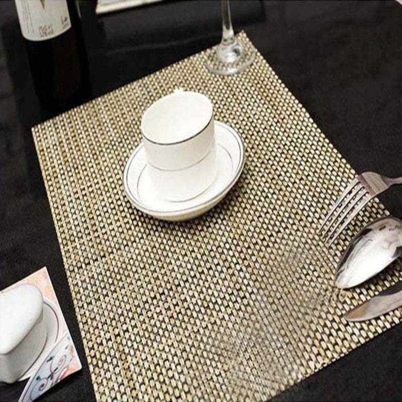 4 Pieces/set 45x30cm High Quality PVC Insulation Placemats Bar Restaurant Grid Modern Europe Table Mat