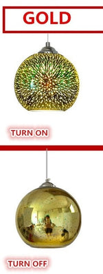 Glass Ball Fireworks Pendant Lamp