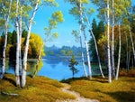 Autumn DIY Oil Painting By Number Kit On Canvas With Scenic View; Relaxing Home Hobby