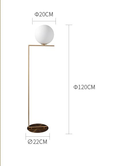 Luna Gold Floor Lamp 120