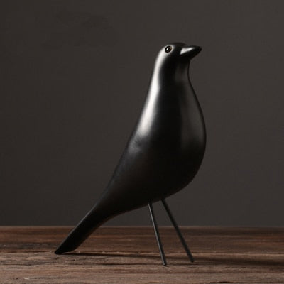 Nordic Elegant White Bird Figurine Available In Two Colors