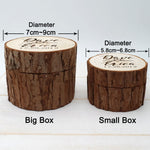 Custom Our Love Is Forever Wedding Ring Bearer Box With Engraved Tree, Couple's First Name & Wedding Date In Cursive Font