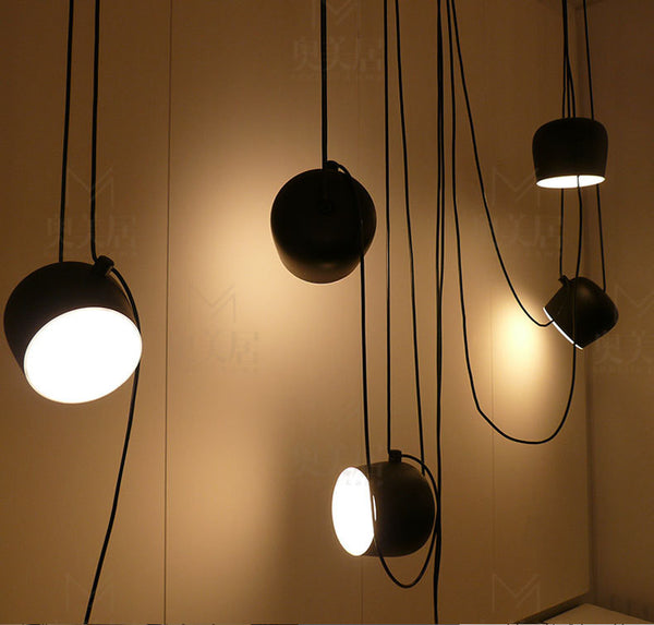 Decorative Modern Hanging Lamps for Indoor Black/White Pendant Light