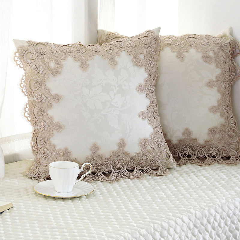Luxury Crocheted  Cushion Cover
