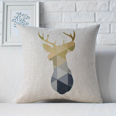 Nordic Styles Geometric Bear and Deer Home Decor Pillow Linen Cotton Cushion Decorative Throw Pillows Car cushion Free Shipping