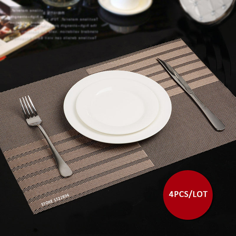 45X30CM Non slip Insulation Placemat Quality PVC Table Placemat Large Dinner Mat Set of 4PCS Table Mats Fashion Style Dining Mat