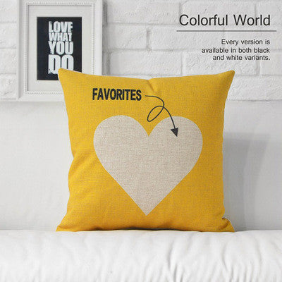 Fashion Love Decorative Pillow Heart Home Decor Cushion Linen Cotton Throw Pillow Sofa Cushions Free Shipping