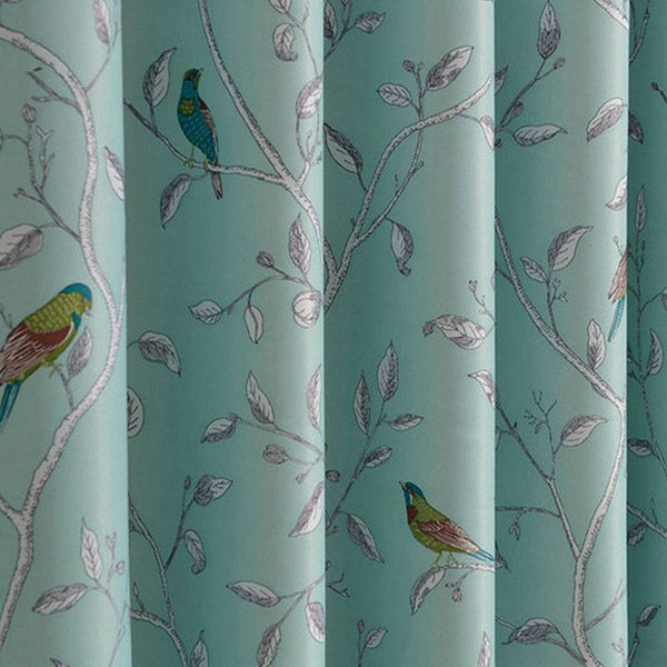 New Arrival Room Darkening Printing Flower And Bird Curtain  For Living Room Blackout  Free Shipping