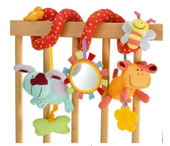 Baby Toy Plush Multipurpose With Sound Paper  Mirror Caterpillar Various Designs