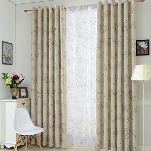 Top Finel 2016 Blinds Modern Flower Window Blackout Curtains for Living Room the Bedroom Kitchen Window Treatments Shading Panel