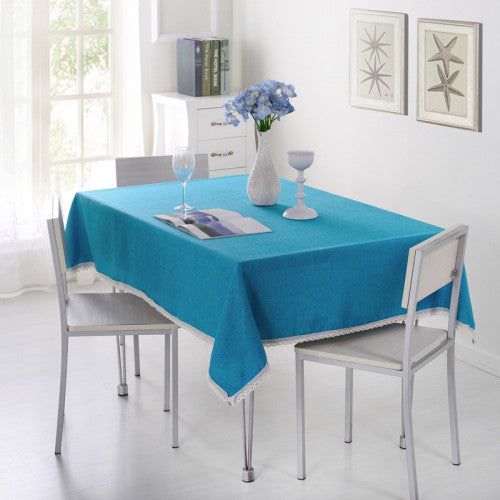 SunnyRain 1-Piece Solid Color Tablecloth For Dining Table Cloth Rectangle Table Linen Table Cover For Tea Table