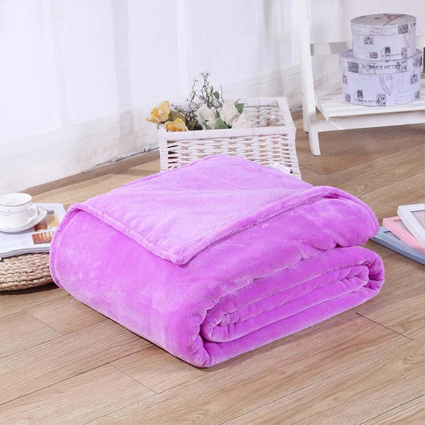 Home Textile Plaid Solid Air/Sofa/Bedding Throws Flannel Blanket Winter Warm Soft Bedsheet 100*140cm 150/180*200cm 200*230cm
