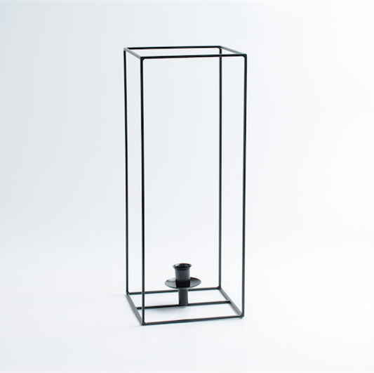 Square Black Cube Metal Tealight Decorative Tabletop Candle Holders
