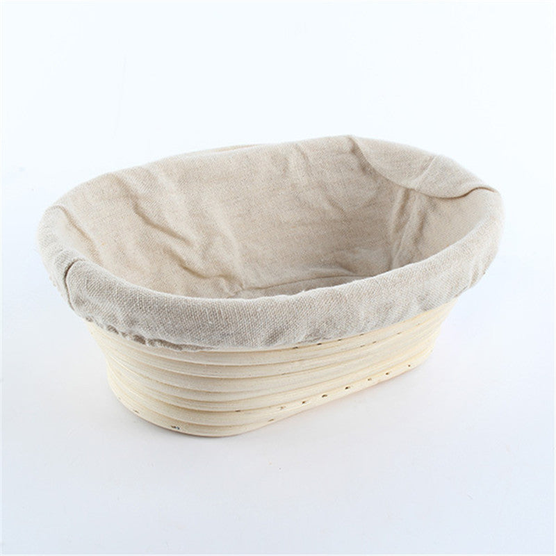 Oval Rattan Bowl of Bread Basket Cane Bread Dough Proofing Natural Rattan Basket Kitchen Gadgets Handmade Wicker Bamboo Bag
