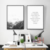 Nordic Style Mountain Canvas Art Print Painting Poster, Wall Pictures for Home Decoration