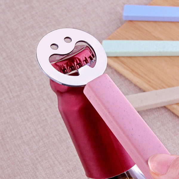 Promotion Cute Smiling Face Beer Bottle Openers Portable Stainless Steel Tools Can Opener Kitchen Accessories Kids Creative Gift