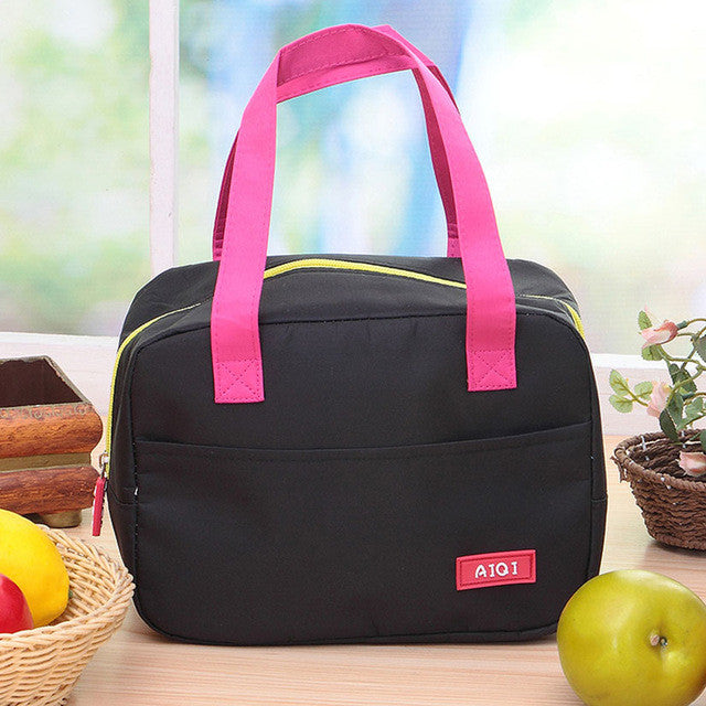 Cute Picnic Handle Lunch Storage Bag Box Tableware Cooler Insulation Holder School Organizer Accessories Supplies Stuff Product