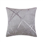 Silver Jacquard Decorative Cushion Cover