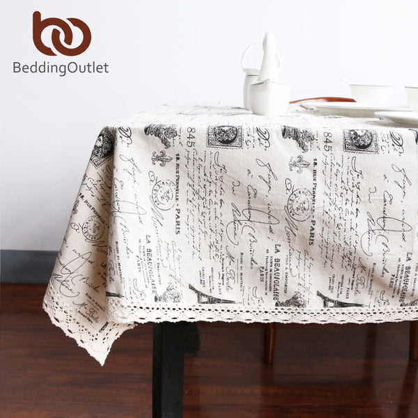 BeddingOutlet Tablecloths Crown Pattern European Table Cover Multi Functional Cotton Line Lace Table Cloth 9 S