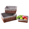 1PC Home Decoration Creative Pastoral Wicker Baskets Sundry Receiver Rattan Stationery Storage Box Sundry Organzier Fruit Holder