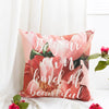 Floral Pink Peony Cushion Cover