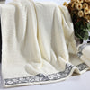 3-Pieces Solid Color Luxury Cotton Towel Set Face Towel  Bath Towels High Absorbent