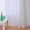Striped pattern tulle sheer curtain for bedroom living room window