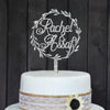 Custom Cake Topper With Bride And Groom Name